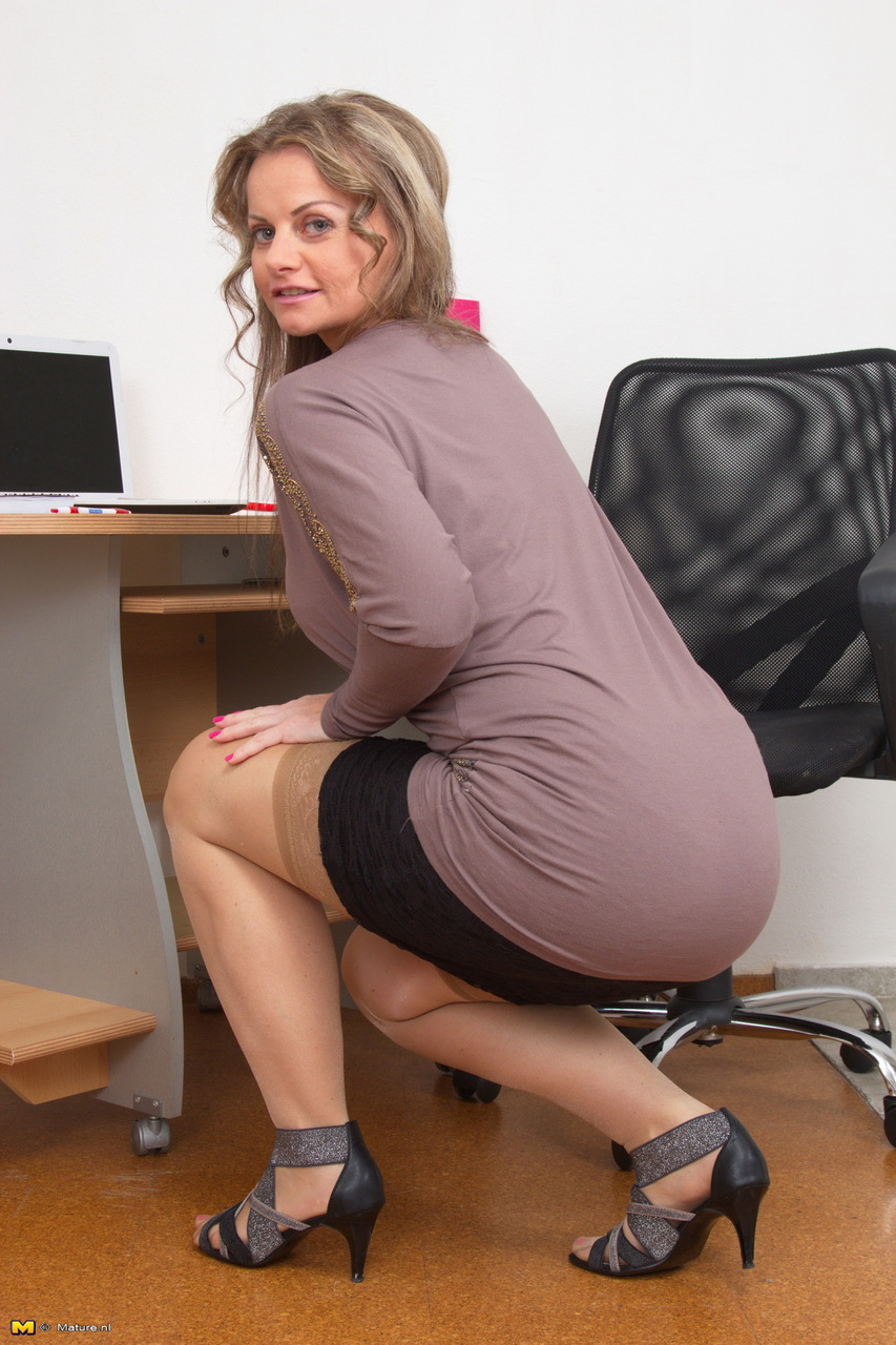 Nude at the office women images