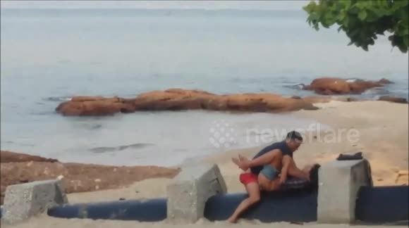 Nude and fuck in brazil on the beach