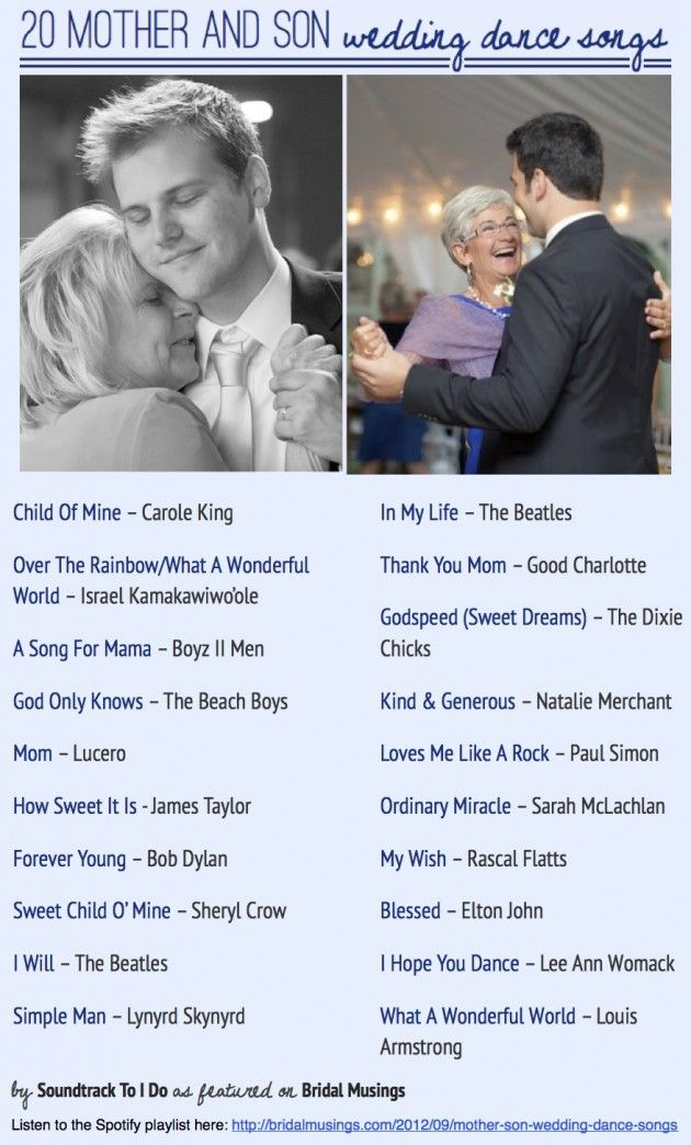 Most popular mother son dance songs