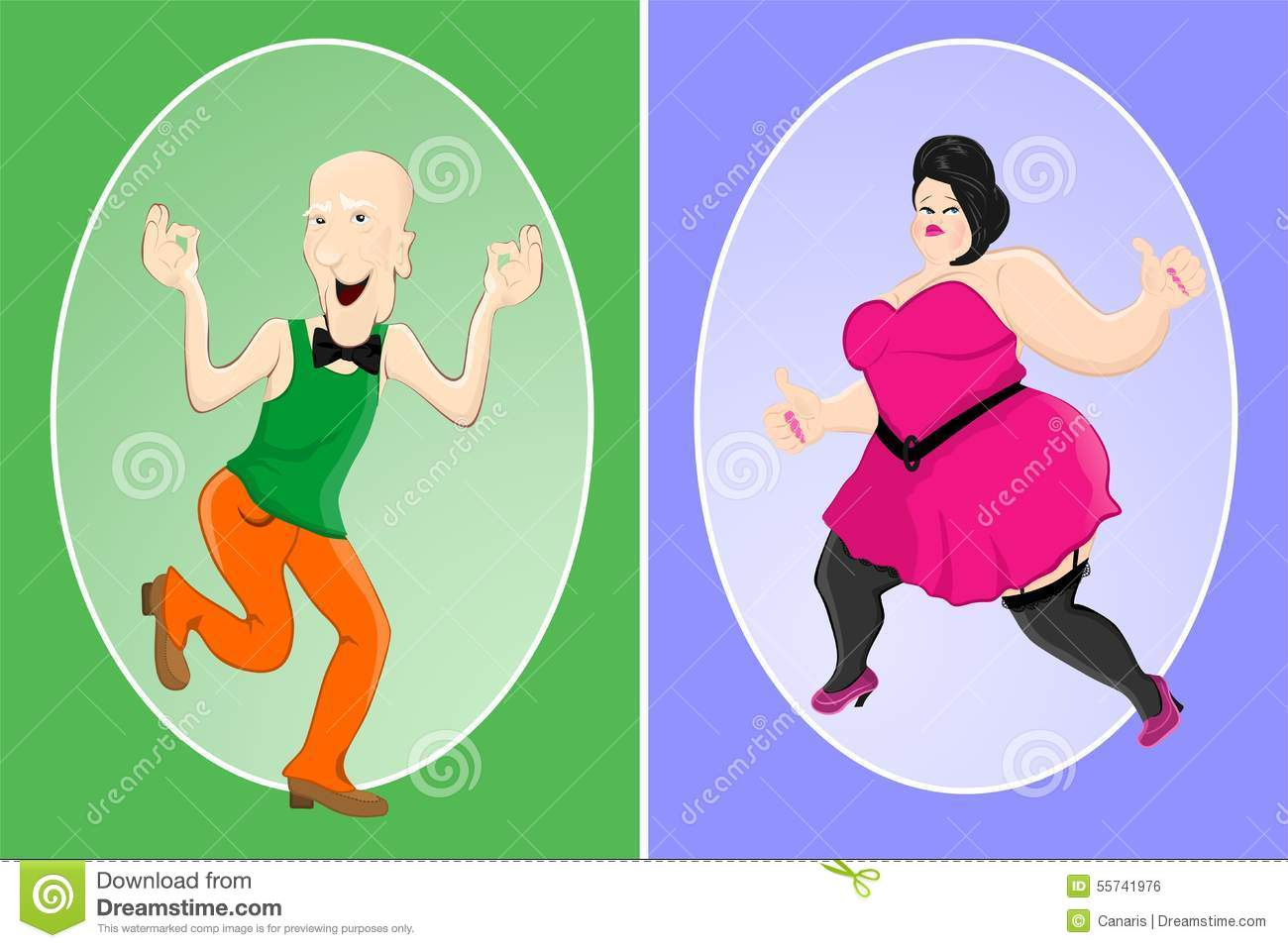 Fat woman and younger man