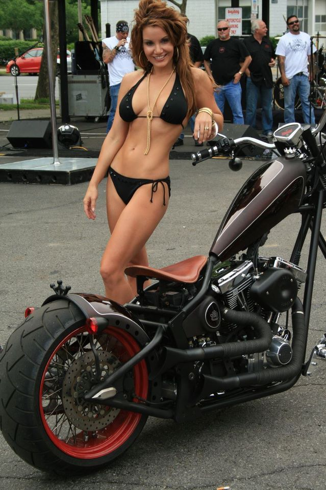 Naked babes on choppers